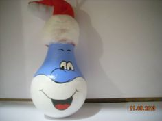 papa smurph light bulb ornament