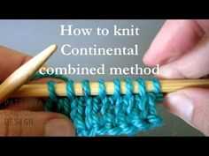 30 Pretty Photo of Continental Knitting Tutorial . Continental Knitting Tutorial How To Knit Continental Combined Knitting Method Knitting Lessons Knitting Stitches, Knitting Patterns Free, Hand Knitting, Stitch Patterns, Crochet Patterns, Knitting Needles, Easy Knitting Projects, Knitting For Beginners, Knitting Tutorials