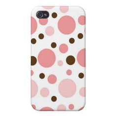 Girly Polka Dots iPhone 4 Case