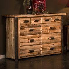Hickory Logger 10 Drawer Dresser