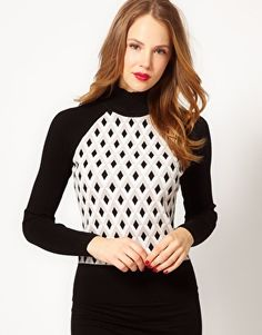 Karen Millen Graphic Patterned Knit Jumper love Karen Millen, need a board just for her