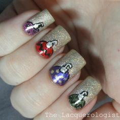 The Lacquerologist: Holiday Nail Art: Holographic Ornaments