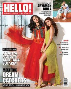"Do you like the magazine ""Tara Sutaria, Ananya Pandey - Hello! Magazine Cover [India] (May Bollywood Celebrities, Bollywood Actress, Bollywood Images, Bollywood Updates, Bollywood Girls, Mohit Suri, Hello Magazine, Celebrity Magazines, Bikini Clad"