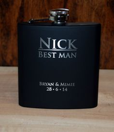 1 Flask Wedding party favors, Groomsmen flask, Best man flask, engraved, Custom engraved 6oz flask., flask, personalized flask, on Etsy, $15.86