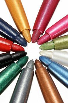 ROMWE   12 Colors Eye Shadow Eyeliner Lip Liner Pen Set, The Latest Street Fashion #ROMWEROCOCO