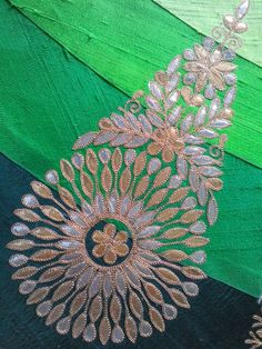My embroidery by lola Aari Embroidery, Indian Embroidery, Hand Embroidery Designs, Embroidery Stitches, Embroidery Patterns, Machine Embroidery, Creative Embroidery, Gota Patti Saree, Art N Craft