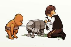 Wookie the Chew - Adorable Star Wars and Winnie the Pooh Parody Art - News - GeekTyrant