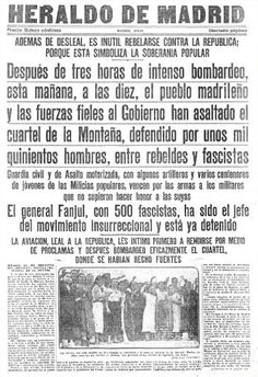El Heraldo de Madrid. El Asalto al Cuartel de la Montaña, julio 1936.