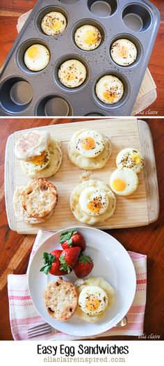 Easy Oven Egg Sandwiches Recipes featured on Ella Claire