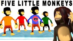 Popular Nursery Rhymes with Animal Cartoons | Five Little Monkeys | Nurs...
