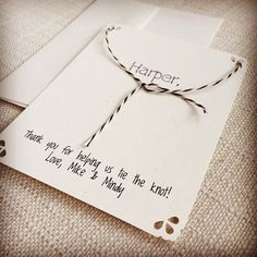 Personalized Wedding Thank You Card - Tie the Knot from Your Happily Ever After