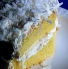 Bacardi pina colada cake -- my dad's birthday cake every year, and oh-so-very delicious.