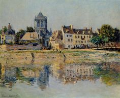 By the River at Vernon, 1883 Claude Monet