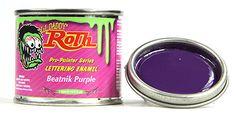 Beatnik Purple lil daddy roth pinstriping paint enamel hot rod sign lettering #lildaddyroth