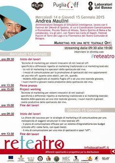 Strategie di #marketing per una rete teatrale con il docente Andrea Maulini