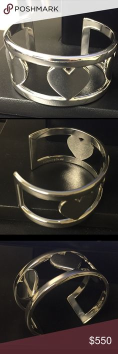 "❤️❤️Tiffany & Co Wide 3 Heart Cuff Bracelet❤️❤️ ❤️❤️Gorgeous Tiffany wide Cuff 3 heart bracelet, retired piece and hard to find. 2 1/4"" with a 1 1/4"" opening. This is a beautiful bracelet that looks brand new❤️❤️❤️ Tiffany & Co. Jewelry Bracelets"