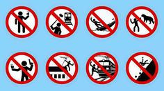 Warning signs for when NOT to take a selfie
