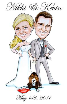 Items similar to Great guest book alternative! Caricature poster for signing at reception! on Etsy Save The Date Magnets, Save The Date Cards, Wedding Caricature, Caricature Artist, Book Posters, Guest Book Alternatives, Wedding Save The Dates, Wedding Guest Book, Your Pet
