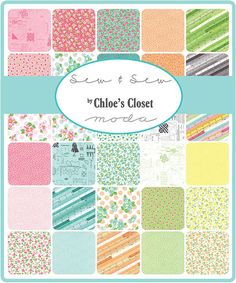 Manufacturer: Moda Designer: Chloes Closet Collection: Sew & Sew  Includes a factory cut Layer Cake - 42 squares - 10 inches each  To see more from this designer click on the following link:  https://www.etsy.com/shop/FabricFlyShop?ref=hdr_shop_menu&search_query=chloe%27s+closet  *****PLEASE NOTE***** We do our best to keep our listings as accurate as possible, sometimes due to manufacturer shortages or inventory error we have less fabric than we thought....