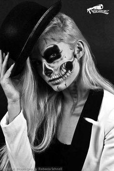 Intense Halloween makeup by Rebecca Schnell.