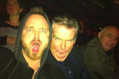 This picture was taken by Aaron Paul during a Radiohead concert in London while he was partying with Pierce Brosnan... I love everything I just typed :)