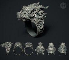 NR_Organic Jewelry Designs - Page 7 Zbrush, Fashion Bracelets, Fashion Jewelry, Dragon Ring, Dragon Jewelry, 3d Prints, Braided Bracelets, Ring Designs, Dragons