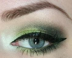 Green eye look. Using colors Empowered and Crushed. $12.50