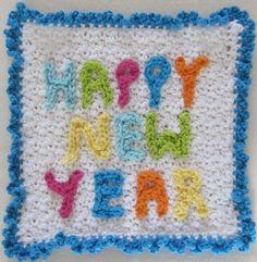 New Years Dishcloth – Maggie Weldon Maggies Crochet...