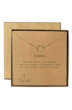 karma necklace  <3 <3 <3