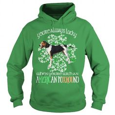 I Love American Foxhound Saint Patrick's Day Lucky With An American Foxhound Dog T shirts