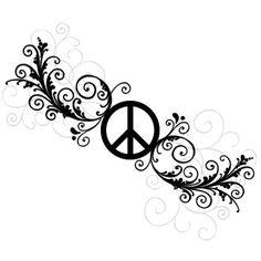 Peace tattoo idea, I like the vintage pattern