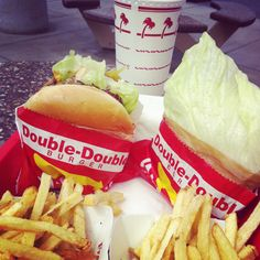 Love love love In&Out burger (even though I only get the fries and shake these days...)