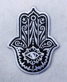 The Hamsa Hand of Fatima Symbol Embroidered Iron On / Sew On