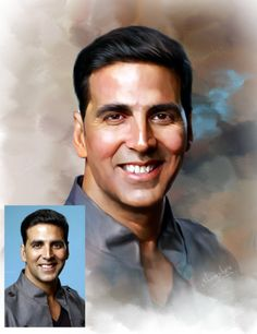 #akshaykumar #photoshop #painting Pineapple Drawing, Digital Paintings, Craft Gifts, Bollywood Actress, Ariel, Projects To Try, Places To Visit, My Arts, Sketches