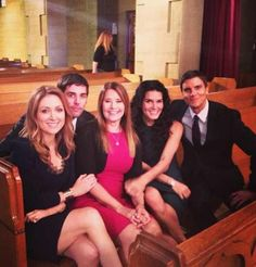 The Rizzoli family with Maura Isles on Rizzoli and Isles.