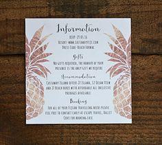 Tropical Pineapple Wedding Invitation by WanderlustWeddings