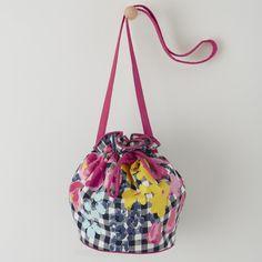 Floral Check Bag