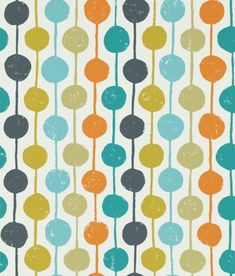 Taimi (111122) - Scion Wallpapers - An all over wallpaper design featuring delightful stripes and circles. Shown here in the sulphur, tangerine and kingfisher. Other colourways are available. Please request a sample for a true colour match. Paste the wall product. Large scale pattern repeat.