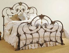 Traditional Wrought Iron Beds With Designs Of Antique Iron Beds . Cast Iron Bed Frame, Wrought Iron Bed Frames, Cast Iron Beds, Antique Iron Beds, Victorian Irons, Iron Headboard, Metal Headboards, Brass Bed, Ikea Bed