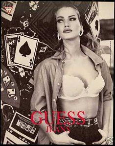Karen Mulder Guess 1991 - just a little bit of makeup.