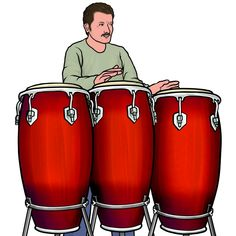 #Conga (conga drums): Latin Percussion instruments. 2000s Fashion Trends, Body Action, Boat Art, Pastel Drawing, Picture Sizes, Free Illustrations, Percussion, Musical Instruments, Drums