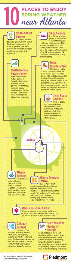 Infographic: 10 places to enjoy spring near Atlanta