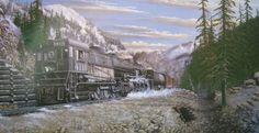 Railroad Print: SP 4119 Cab Forward by John Winfield