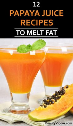 Papaya is a fruit that offers many benefits to your body through minerals and vitamins A, C and the B complex. This set of nutrients helps to improve the Green Drink Recipes, Juice Cleanse Recipes, Veggie Juice, Healthy Juice Recipes, Healthy Juices, Healthy Drinks, Detox Juices, Detox Recipes, Smoothie Recipes