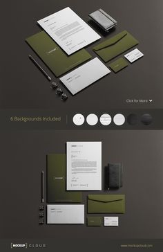 Corporate Stationery Mock-Up by Mockup Cloud on @creativemarket