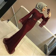 Image may contain: 1 person, shoes and indoor Hijab Prom Dress, Hijab Gown, Muslimah Wedding Dress, Hijab Evening Dress, Hijab Wedding Dresses, Muslim Dress, Evening Dresses, Hijab Outfit, Dress Wedding