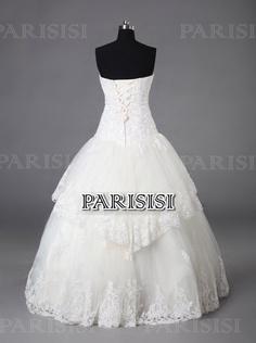 Vestido de fiesta Sin tirantes Hasta tobillo Tul Champán vestidos de novia