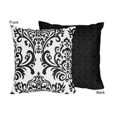 Black and White Isabella Decorative Accent Throw Pillow by Sweet Jojo Designs Sweet Jojo Designs http://www.amazon.com/dp/B005F43T3Q/ref=cm_sw_r_pi_dp_kh2fub1Q3GZHT