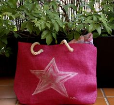 #star #bolsa #cesto #pintadoamano  #valentinasmoon www.valentinasmoon.com