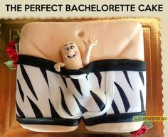 Bachelorette cake. I'm so dead, please adorn my casket with candles and lilies.